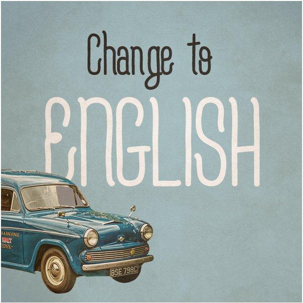 Change to English
